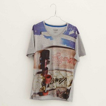 Oliver Rath ''Rollbretter''   Herren V-Neck, All over Print