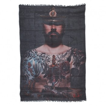''My Soldier - Serge'' by Frank Dursthoff, Tuch/Schal/Pareo/Sarong