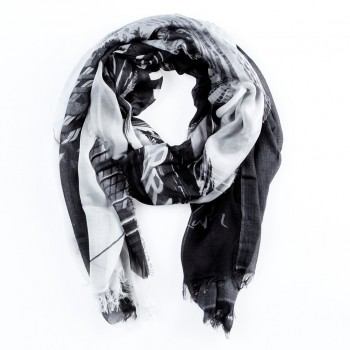''No Music'' by Oliver Rath, Scarf/Turban/Pareo/Sarong