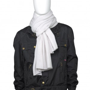 Cashmere Schal, extra fein, Col. WHITE NOISE, Size: XL, 100 % Todd & Duncan Cashmere