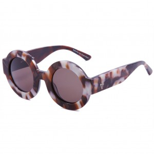 Valley, SCAPULA - Pearl Flake Tort / Brown Lens