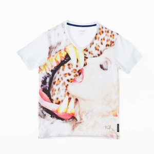 Oliver Rath ''Zirkusliebe''  Herren V-Neck, All over Print