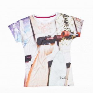 Oliver Rath, ''Rollbretter''   Damen Round-Neck, All over Print